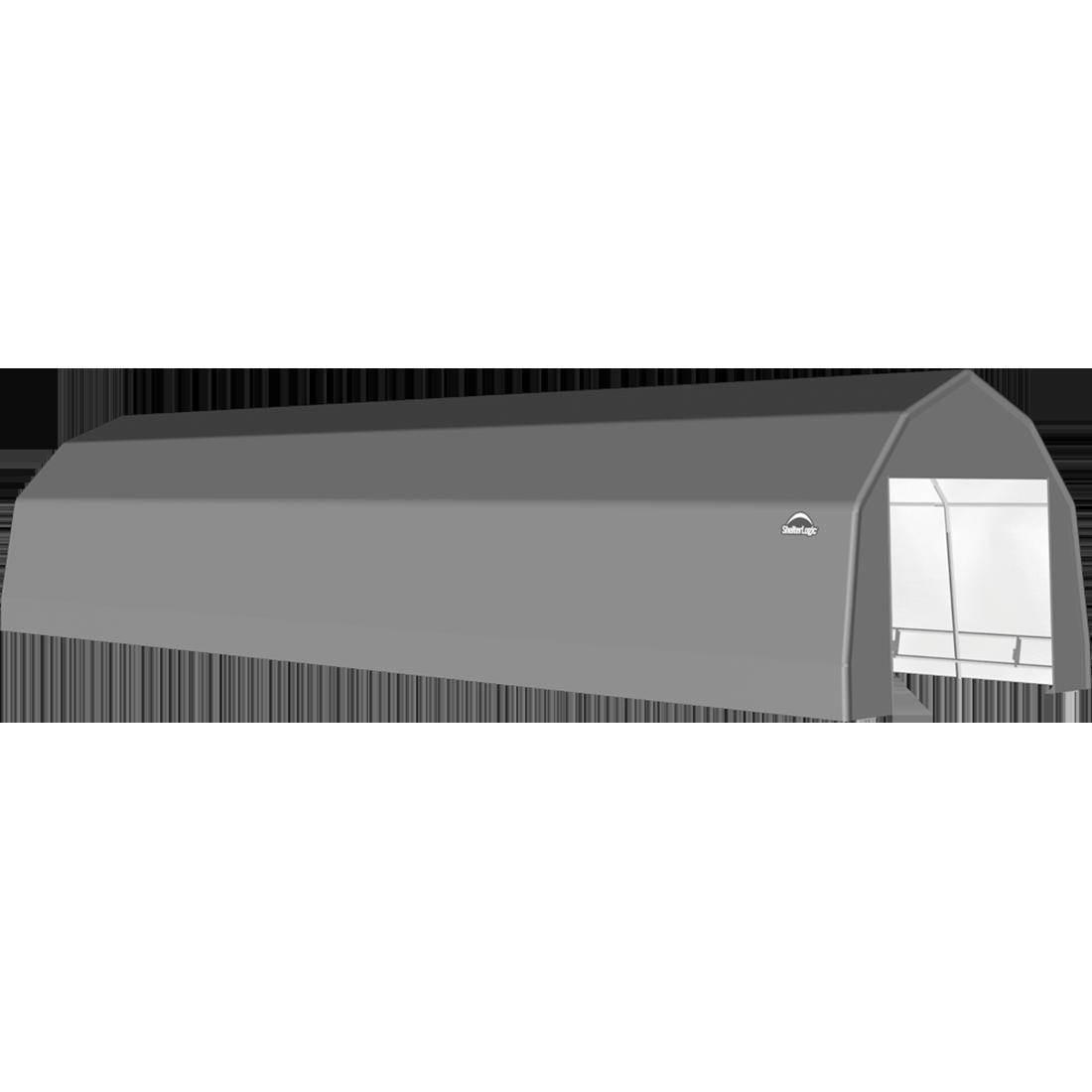 SP Barn 12X32X9 Gray 14 oz PE Shelter