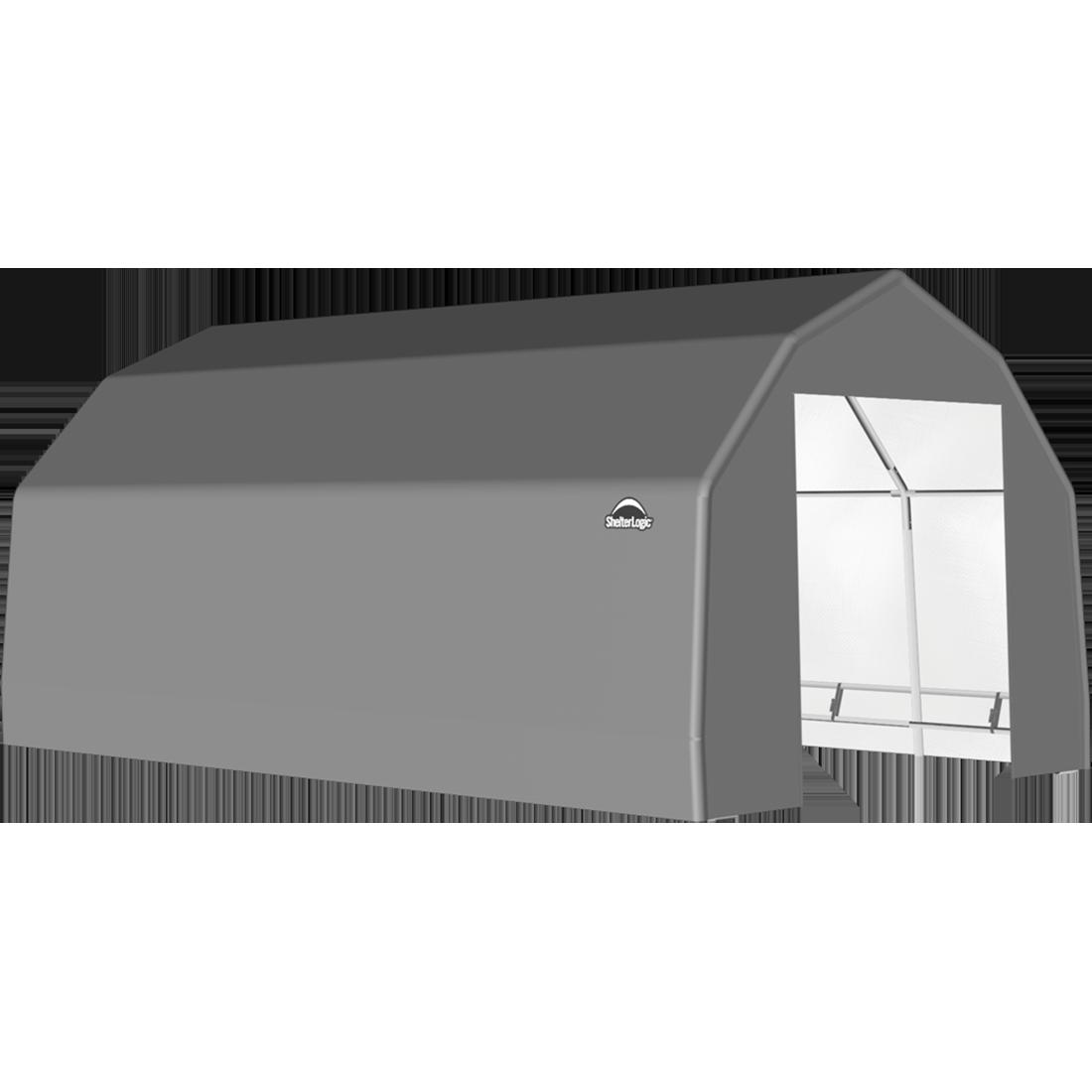 SP Barn 15X20X11 Gray 14 oz PE Shelter