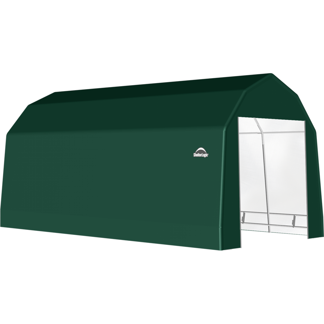 SP Barn 12X24X11 Green 14 oz PE Shelter