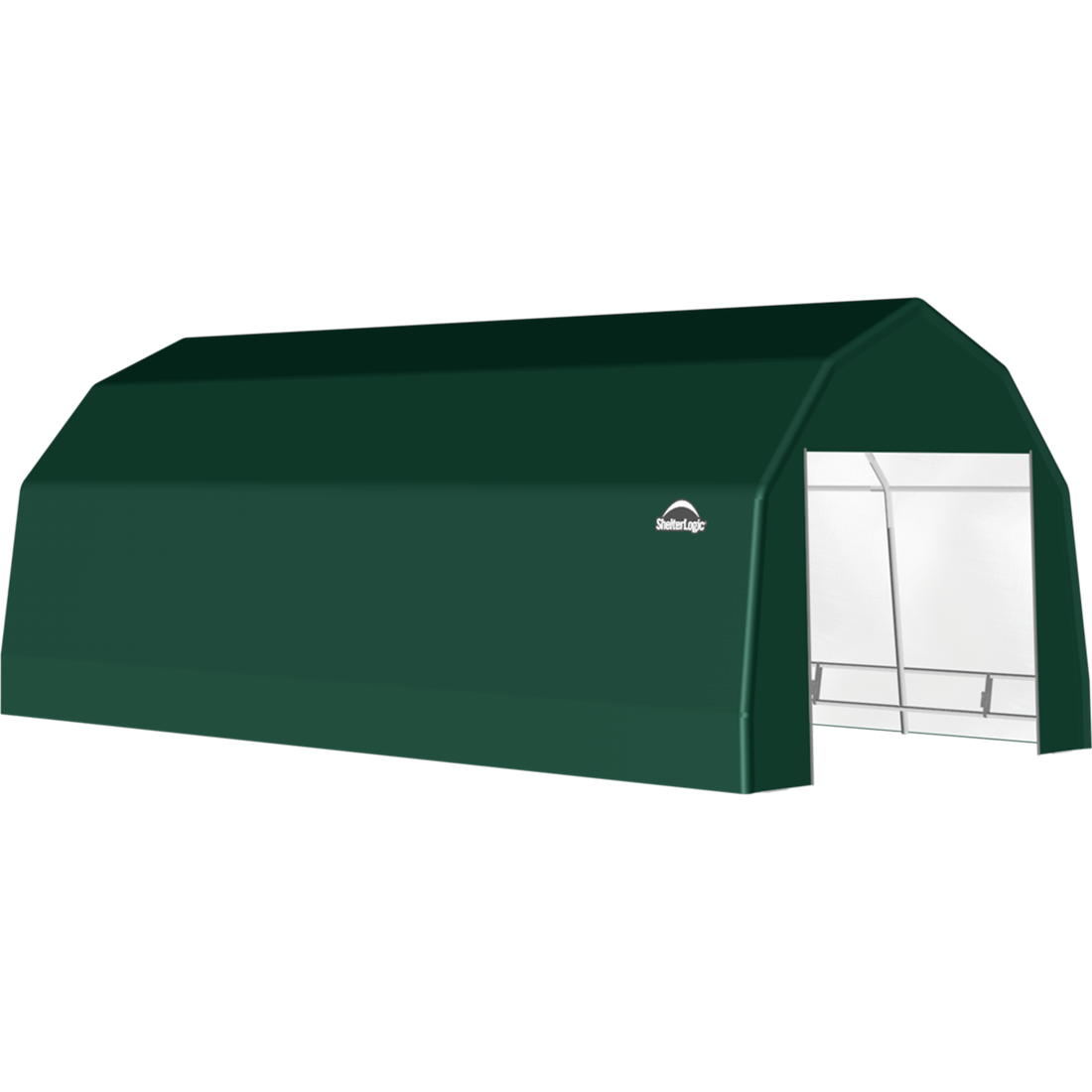 SP Barn 12X28X9 Green 14 oz PE Shelter