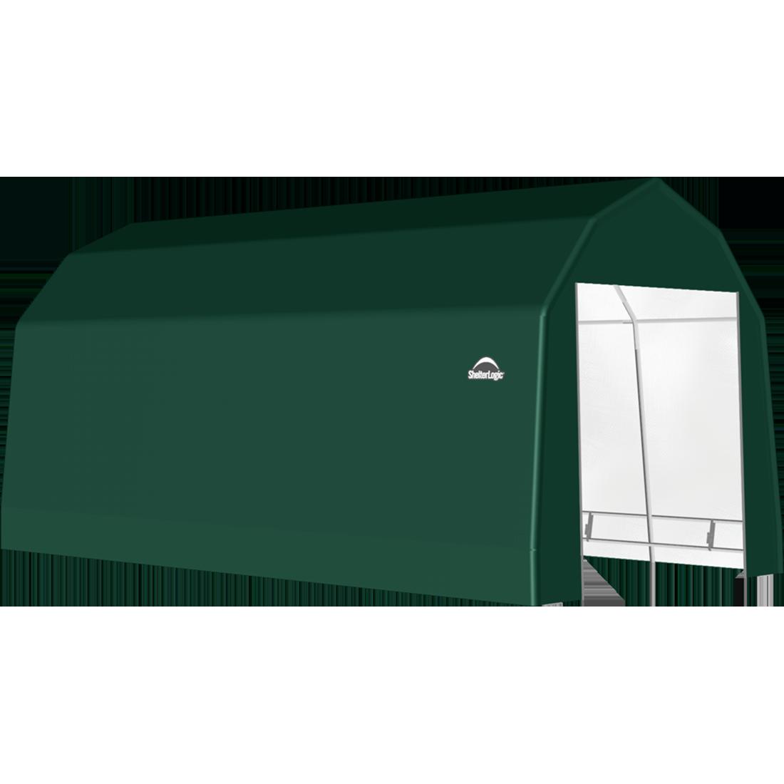 SP Barn 12X28X11 Green 14 oz PE Shelter
