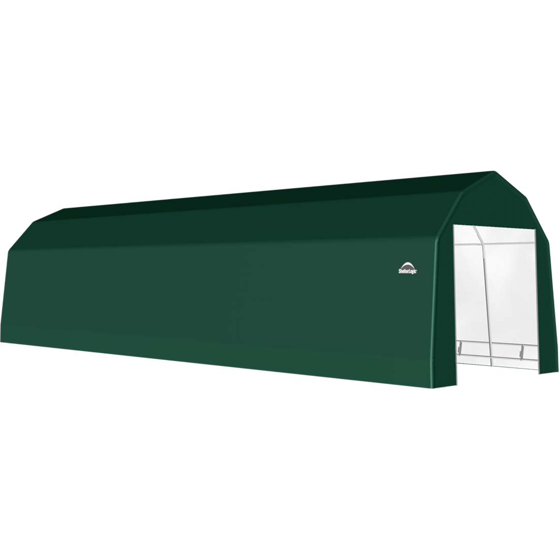 SP Barn 12X40X11 Green 14 oz PE Shelter
