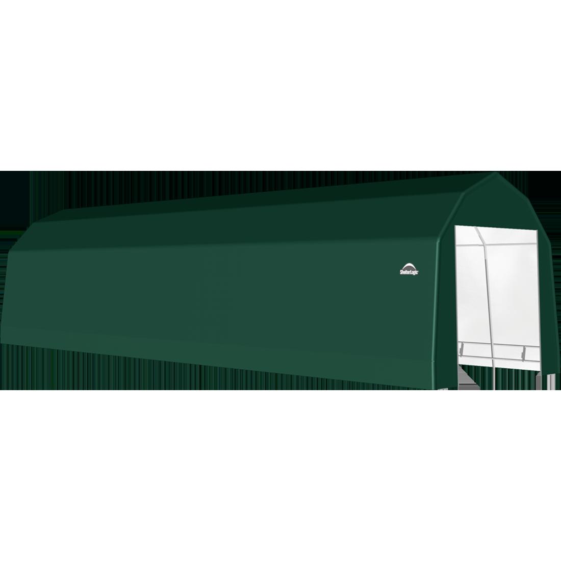 SP Barn 12X44X11 Green 14 oz PE Shelter