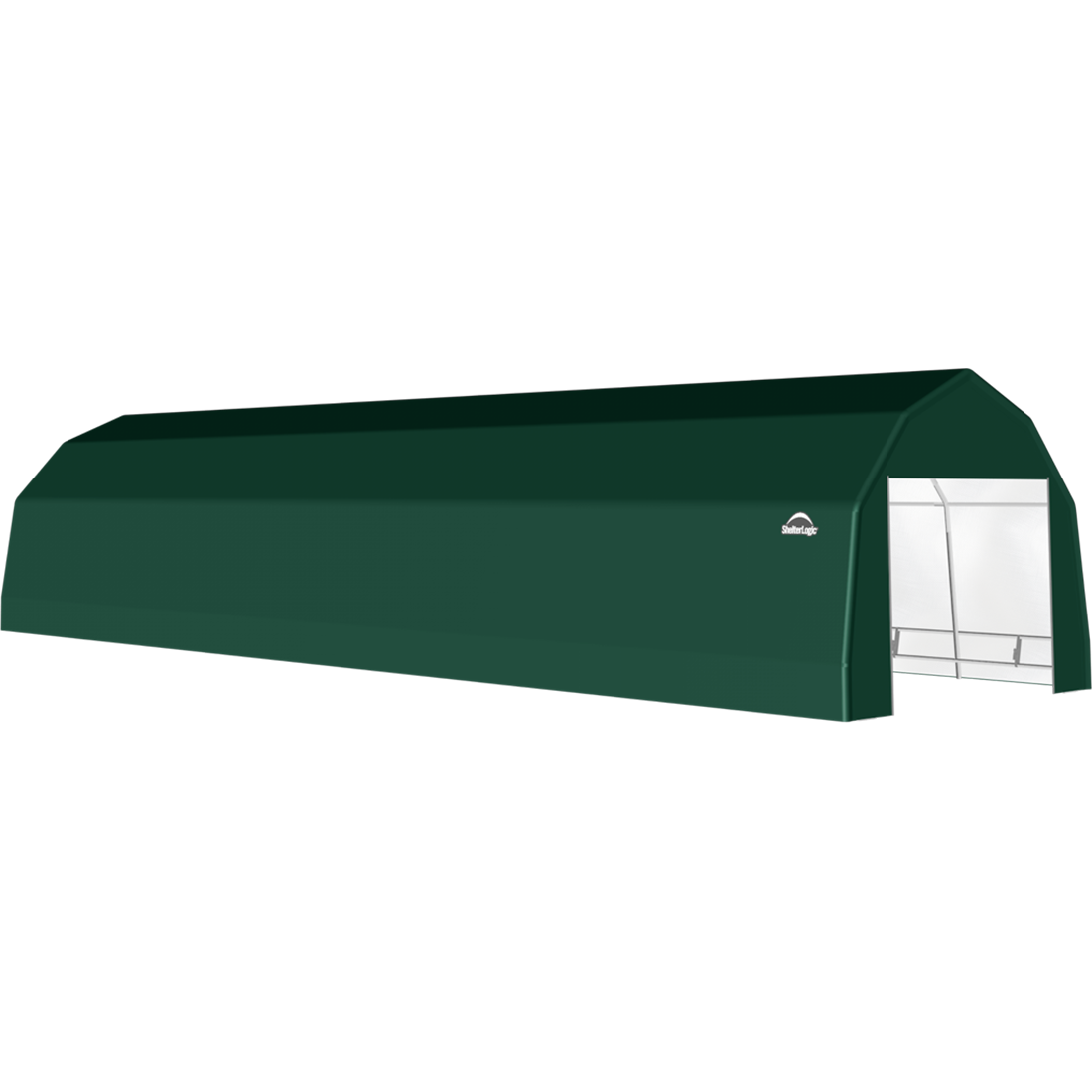 SP Barn 12X48X9 Green 14 oz PE Shelter