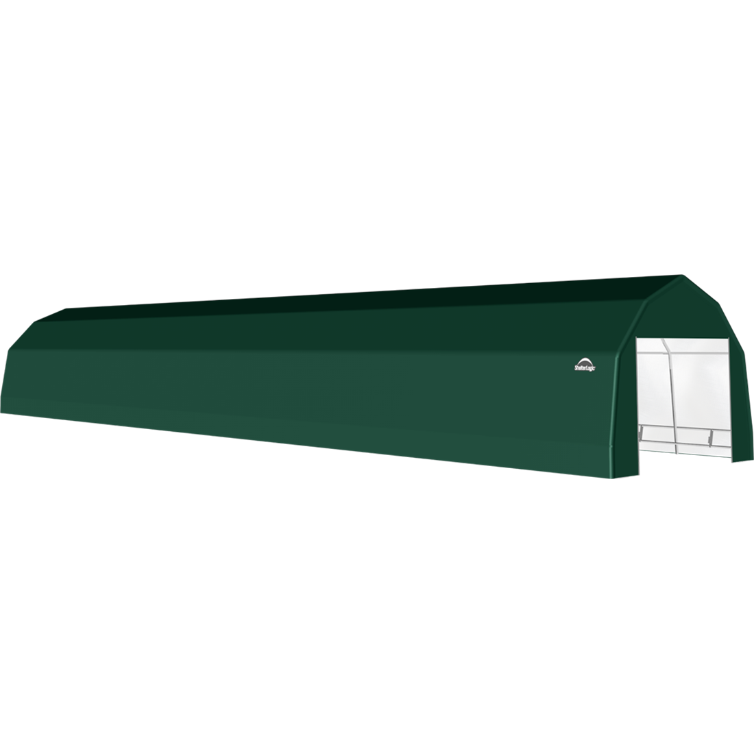 SP Barn 12X64X9 Green 14 oz PE Shelter