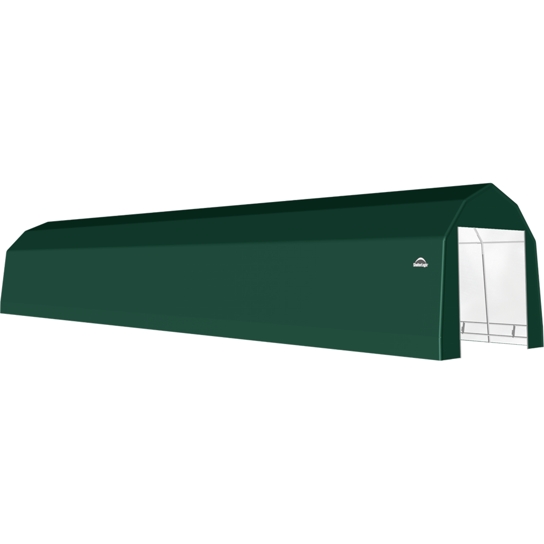 SP Barn 12X68X11 Green 14 oz PE Shelter