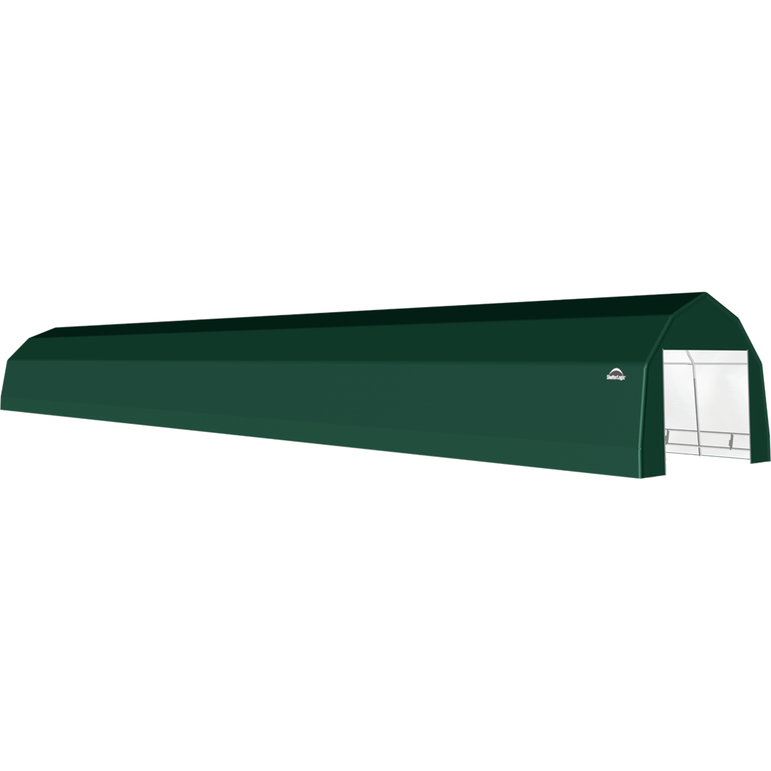 SP Barn 12X72X9 Green 14 oz PE Shelter