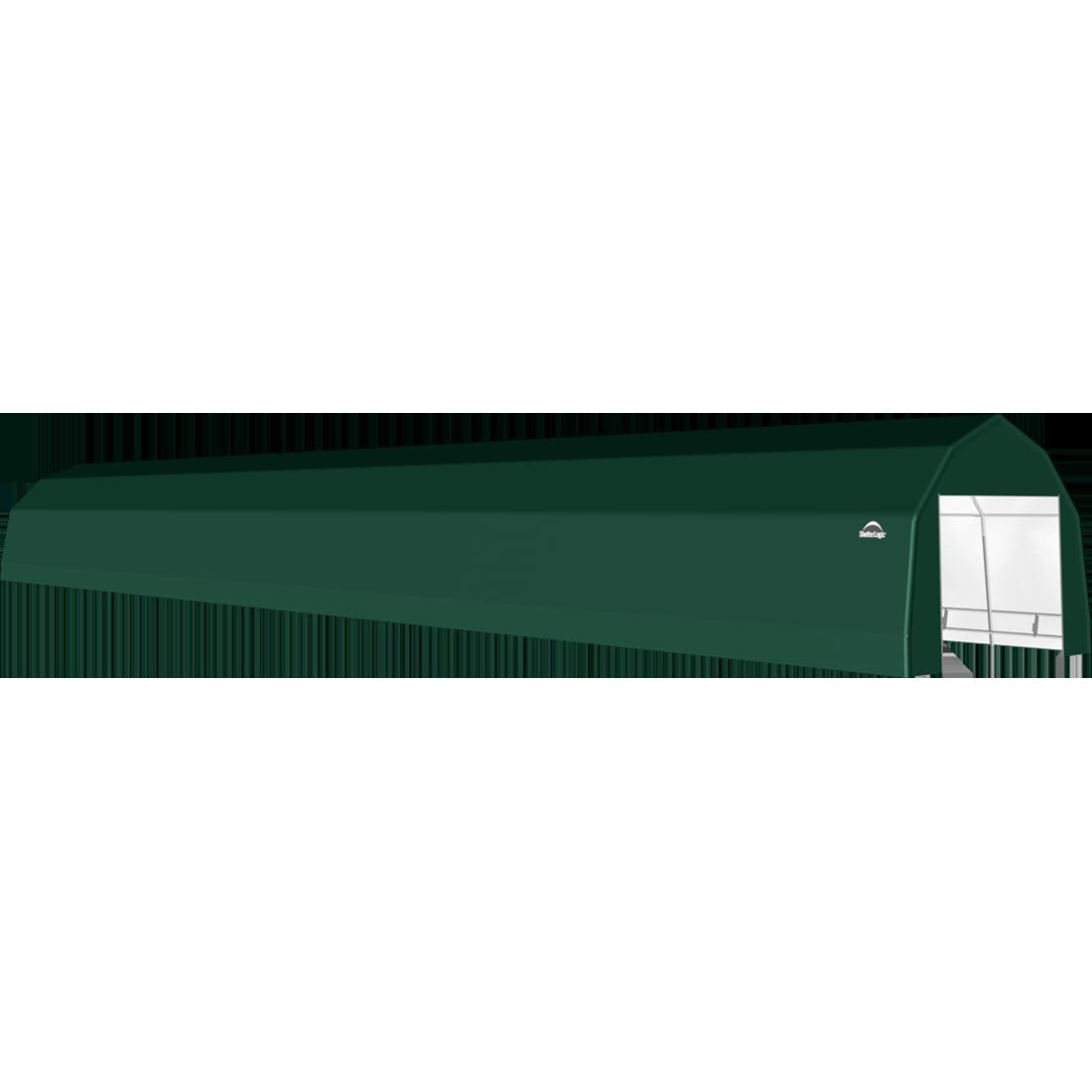 SP Barn 12X76X9 Green 14 oz PE Shelter
