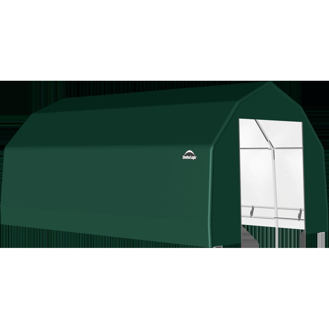 SP Barn 15X20X11 Green 14 oz PE Shelter