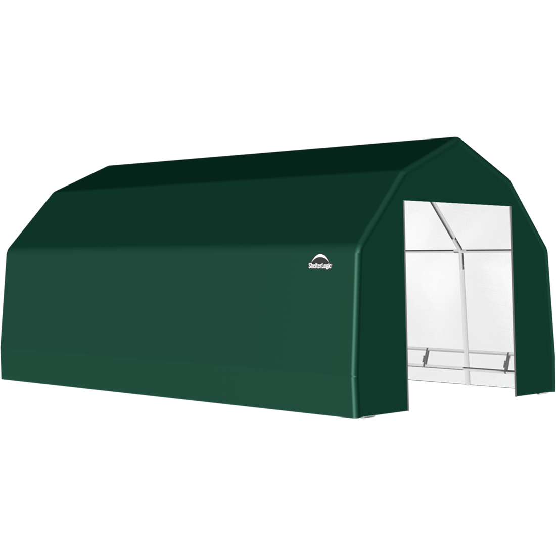 SP Barn 15X28X11 Green 14 oz PE Shelter