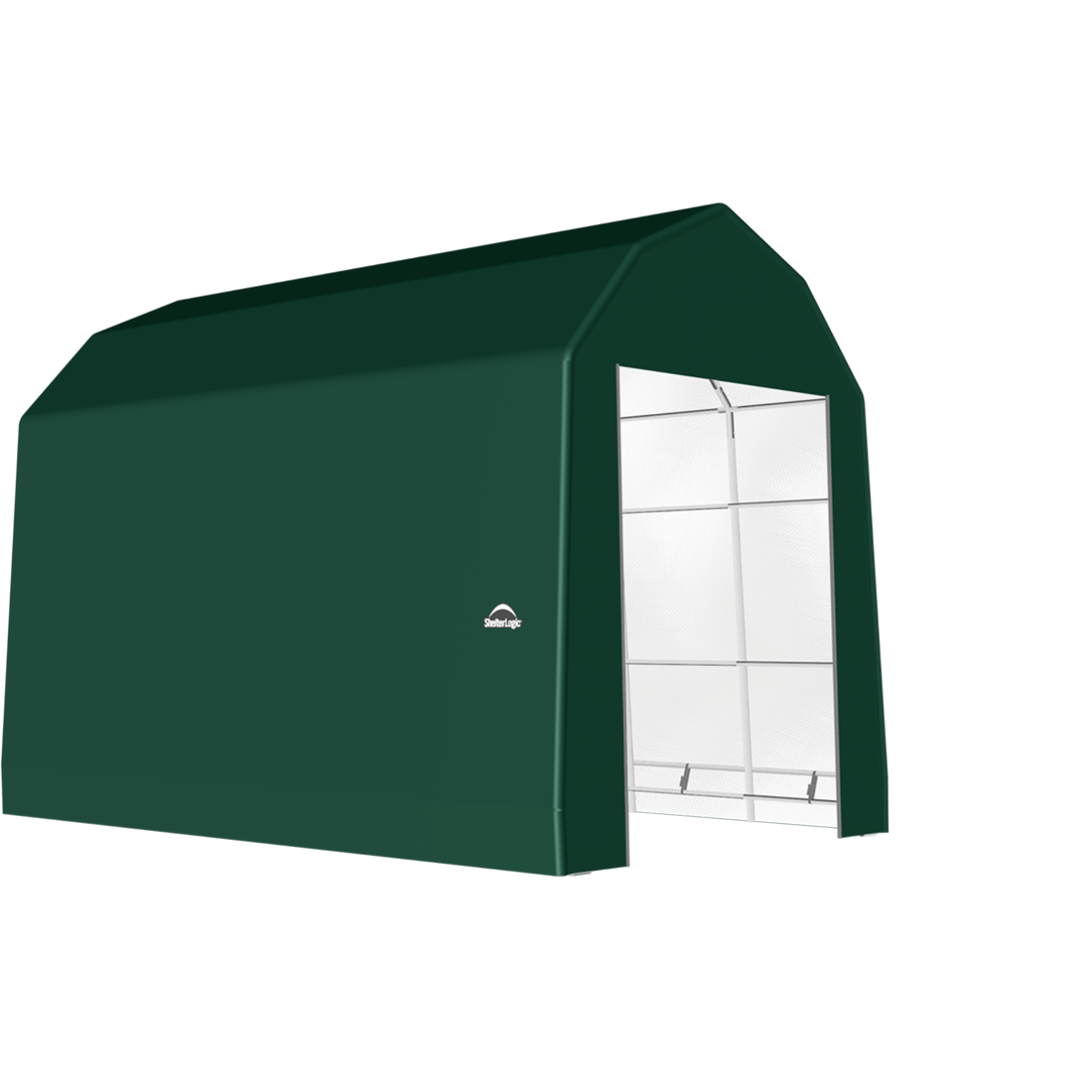 SP Barn 15X28X17 Green 14 oz PE Shelter