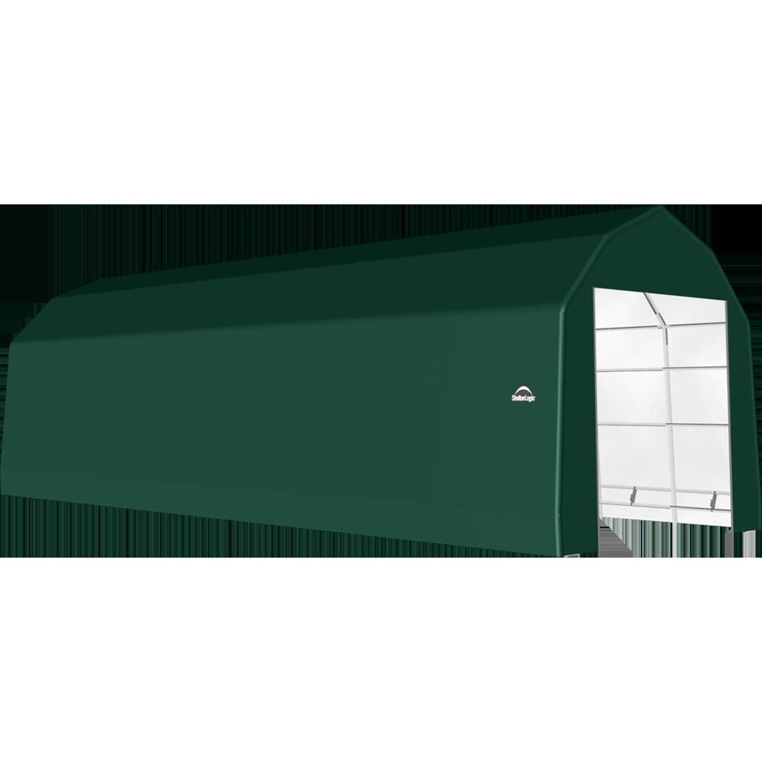 ShelterTech SP Series Barn Shelter, 15 ft. x 32 ft. x 14 ft. Heavy Duty PVC 14.5 oz. Green