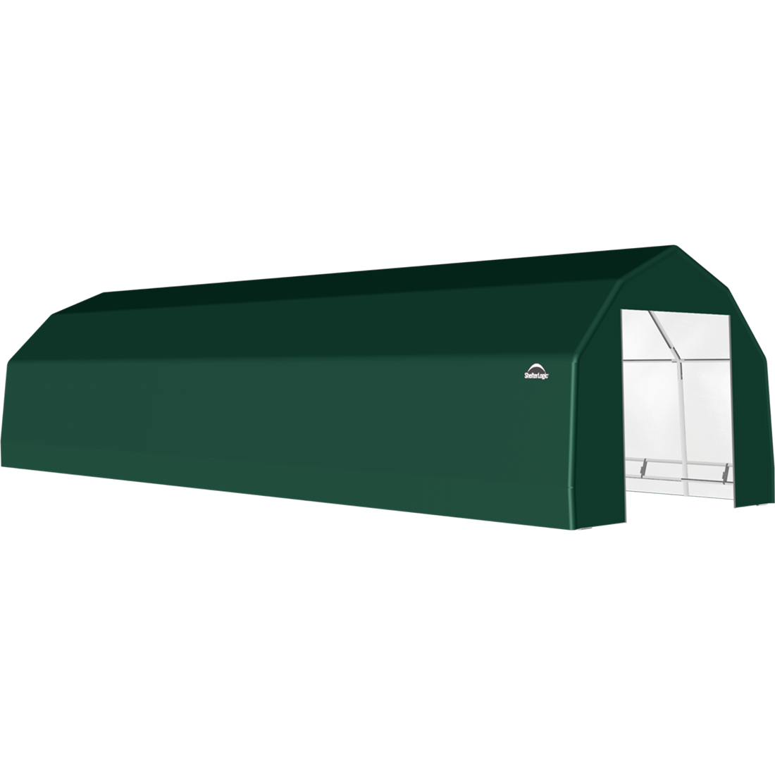 ShelterTech SP Series Barn Shelter, 15 ft. x 36 ft. x 11 ft. Heavy Duty PVC 14.5 oz. Green