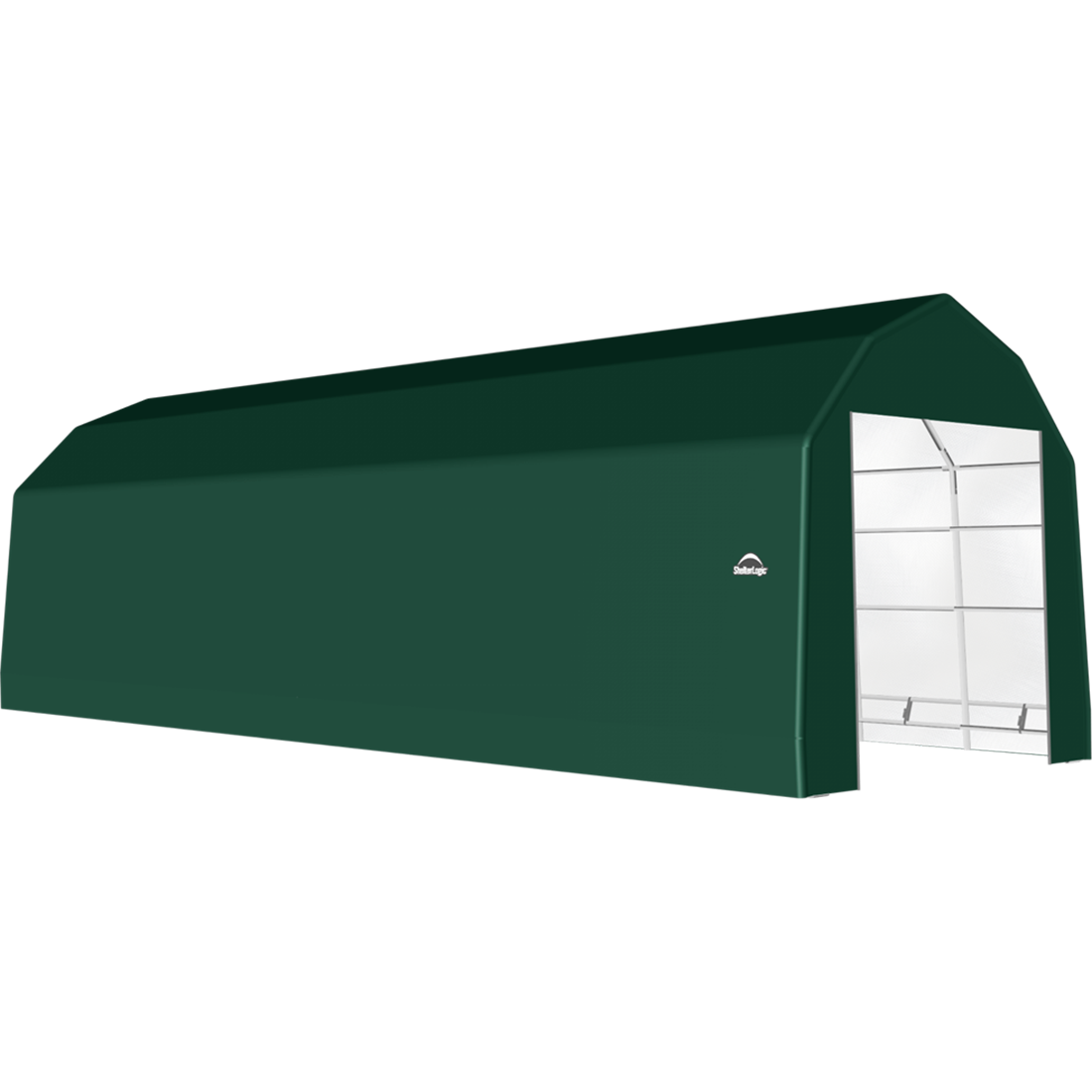 ShelterTech SP Series Barn Shelter, 15 ft. x 40 ft. x 14 ft. Heavy Duty PVC 14.5 oz. Green