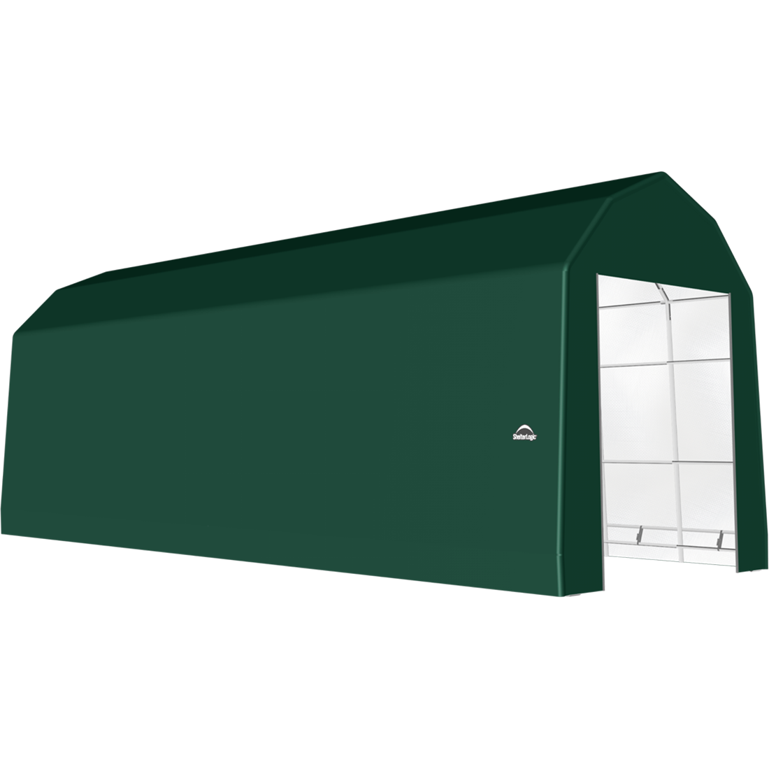 SP Barn 15X40X17 Green 14 oz PE Shelter
