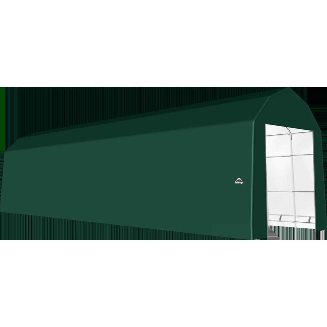ShelterTech SP Series Barn Shelter, 15 ft. x 52 ft. x 17 ft. Heavy Duty PVC 14.5 oz. Green