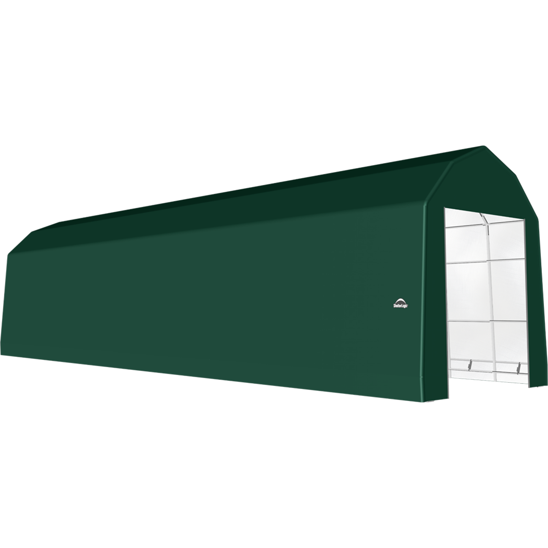 SP Barn 15X56X17 Green 14 oz PE Shelter