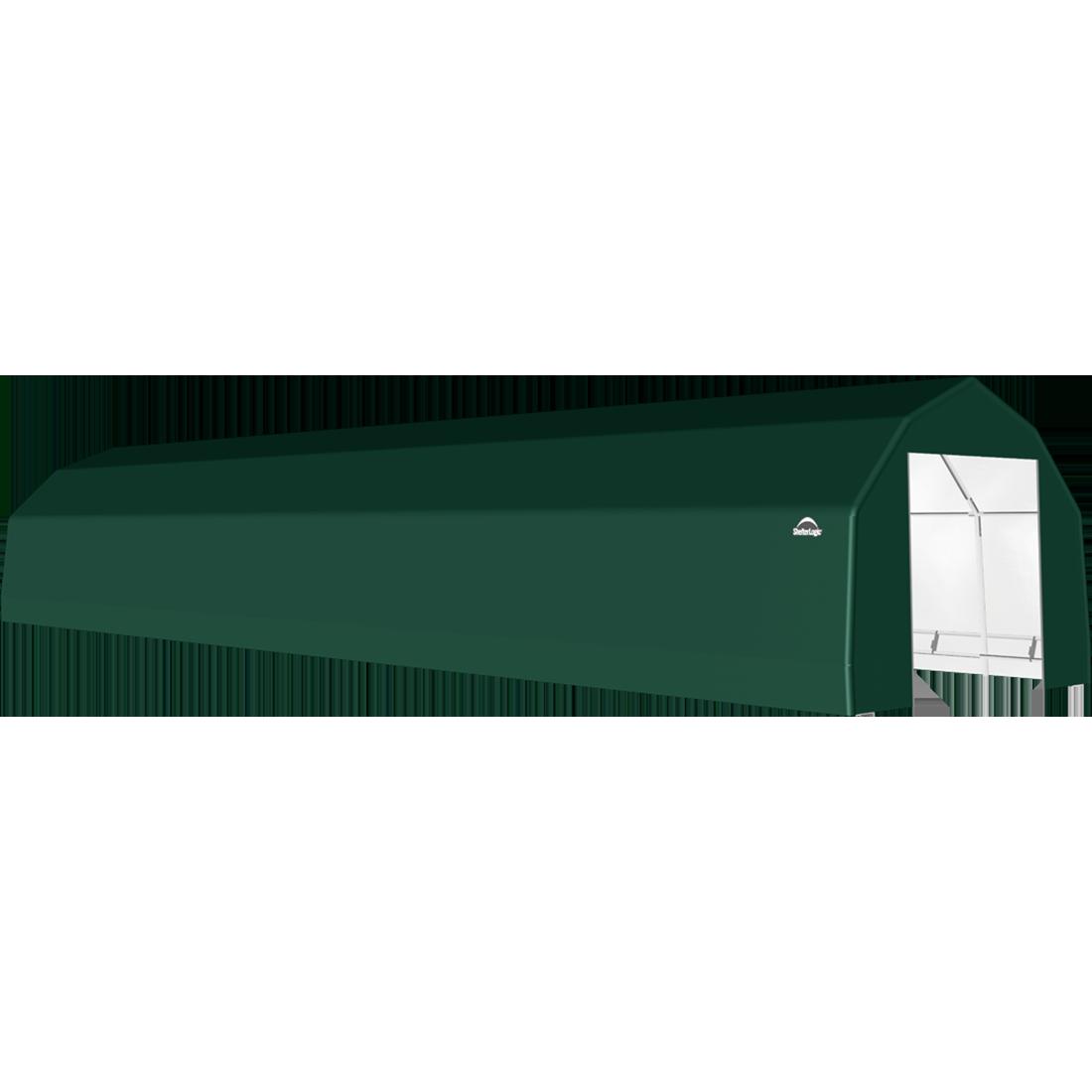 ShelterTech SP Series Barn Shelter, 15 ft. x 64 ft. x 11 ft. Heavy Duty PVC 14.5 oz. Green