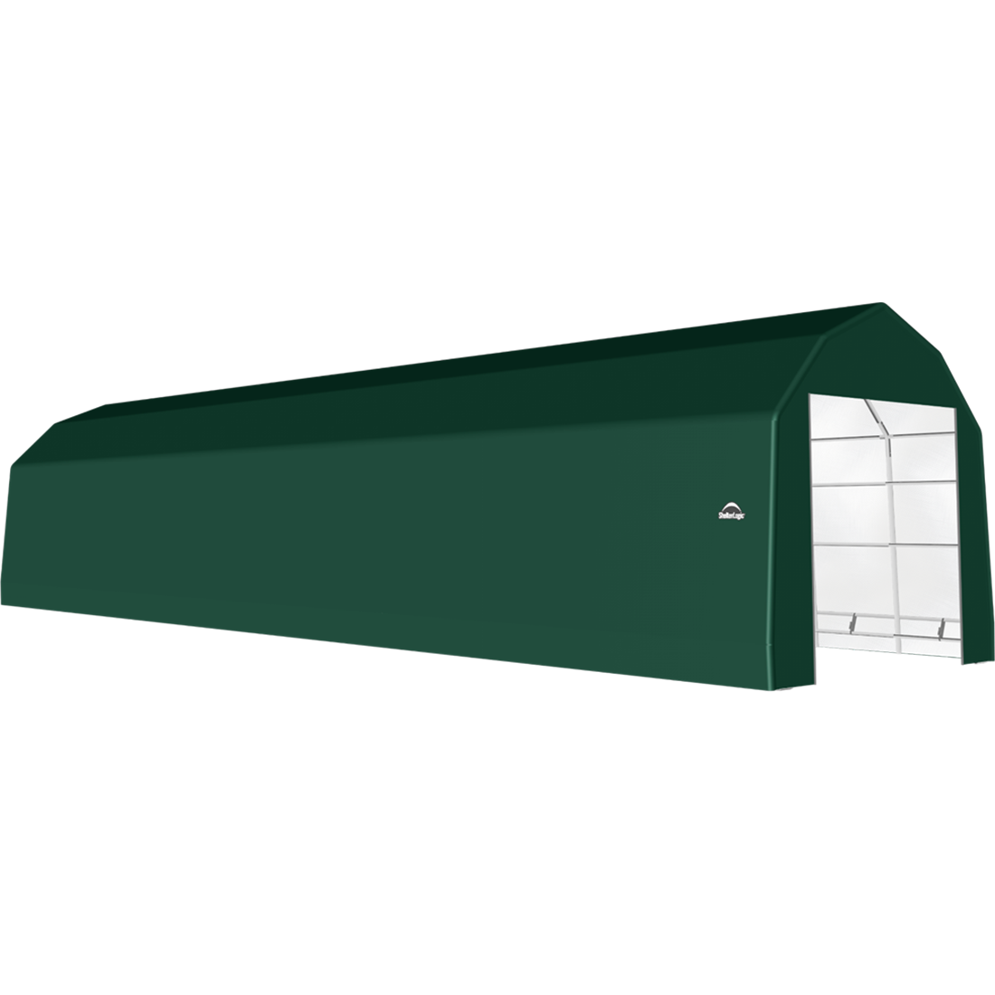 SP Barn 15X64X14 Green 14 oz PE Shelter