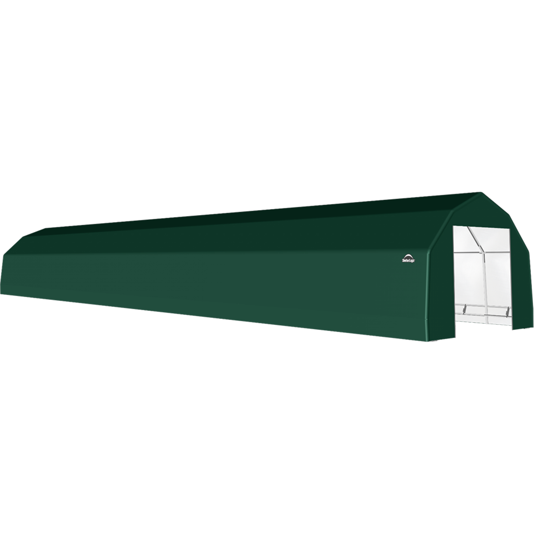 SP Barn 15X72X11 Green 14 oz PE Shelter