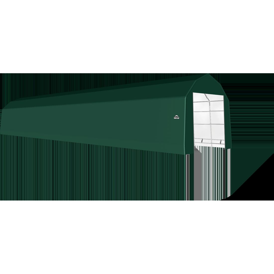 SP Barn 15X72X14 Green 14 oz PE Shelter