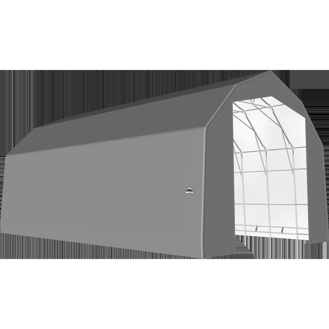 SP Barn 25X36X20 Gray 14 oz PE Shelter
