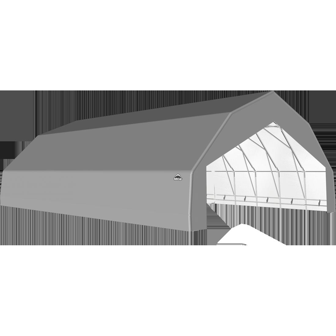 SP Barn 30X36X15 Gray 14 oz PE Shelter