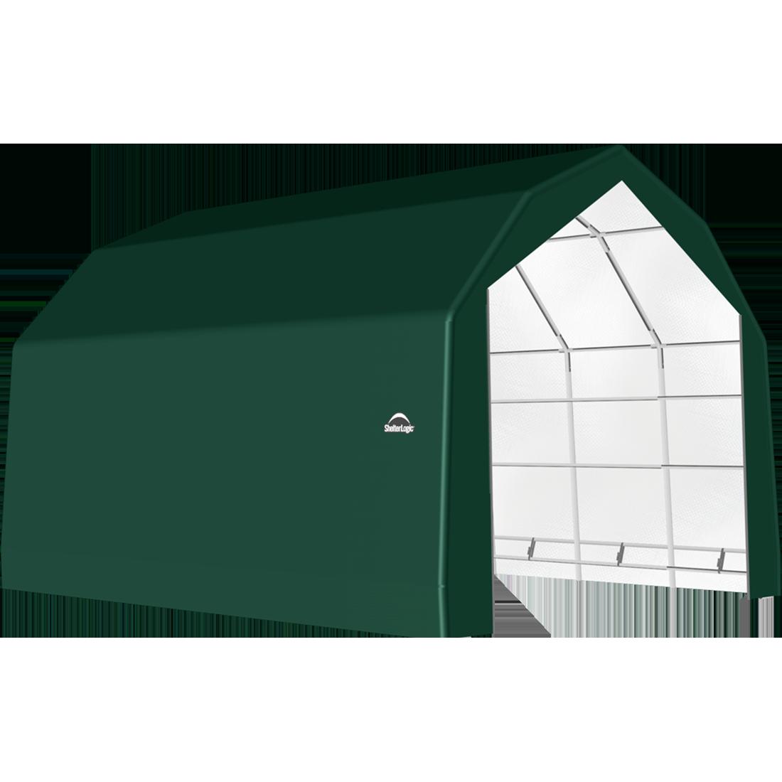 SP Barn 20X20X15 Green 14 oz PE Shelter