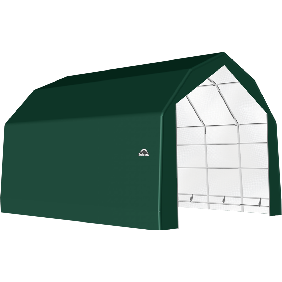 SP Barn 20X24X15 Green 14 oz PE Shelter