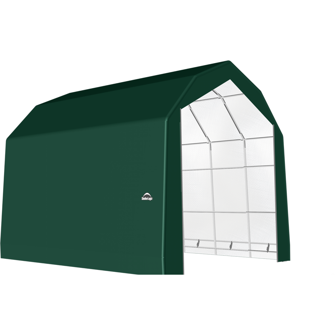 ShelterTech SP Series Barn Shelter, 20 ft. x 24 ft. x 18 ft. Heavy Duty PVC 14.5 oz. Green