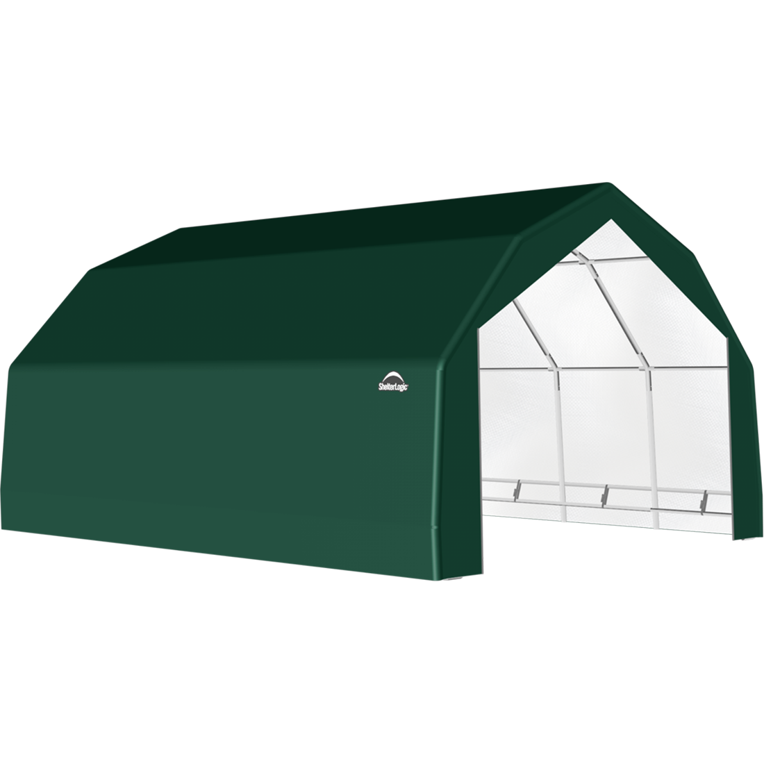 SP Barn 20X28X12 Green 14 oz PE Shelter
