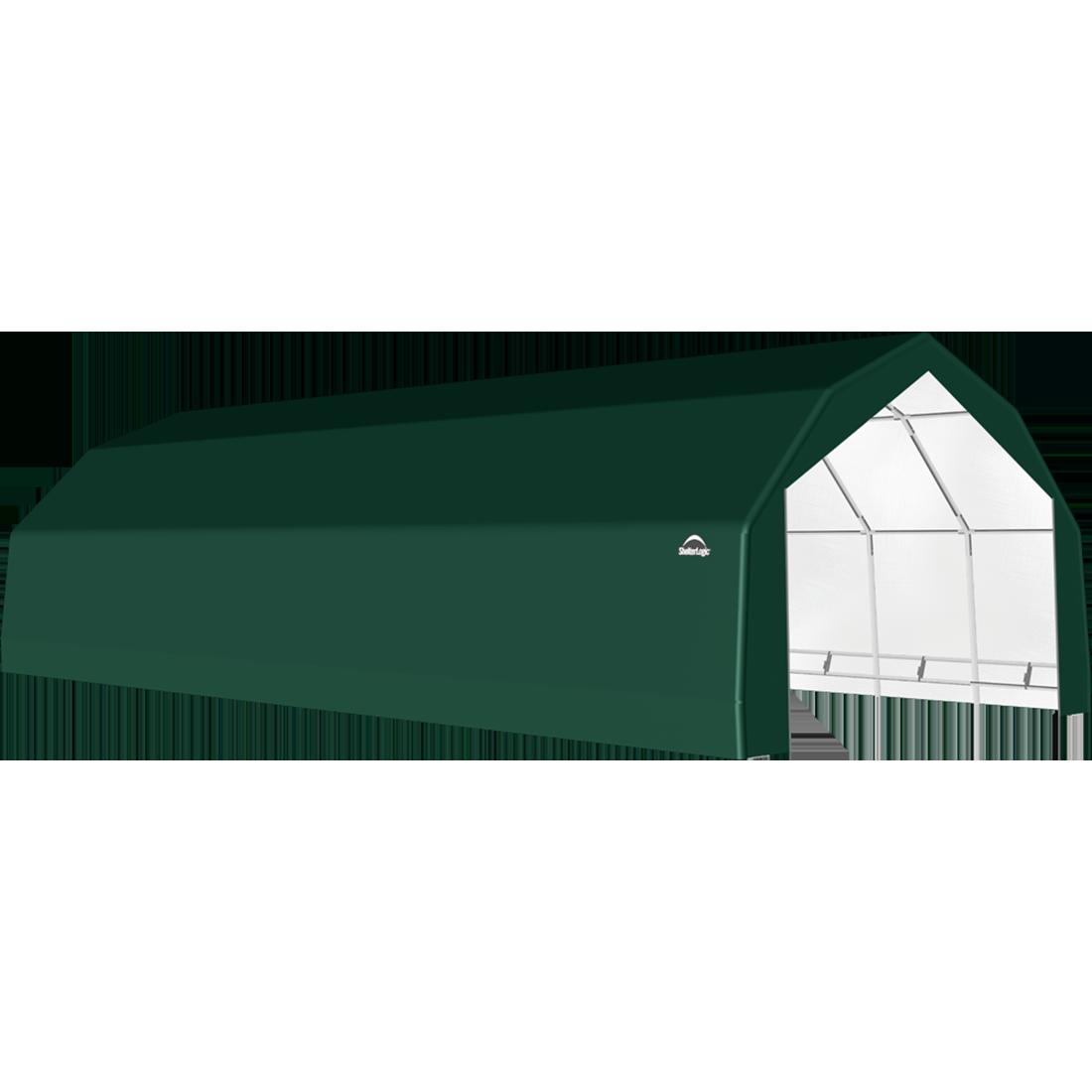 ShelterTech SP Series Barn Shelter, 20 ft. x 32 ft. x 12 ft. Heavy Duty PVC 14.5 oz. Green