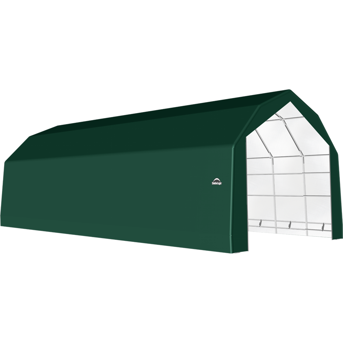SP Barn 20X32X15 Green 14 oz PE Shelter