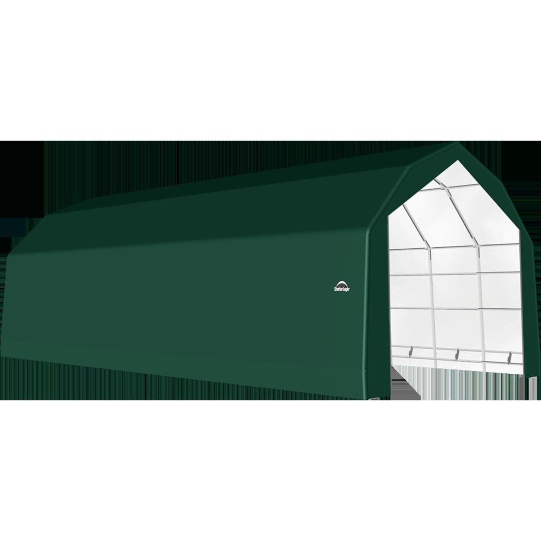 SP Barn 20X40X15 Green 14 oz PE Shelter