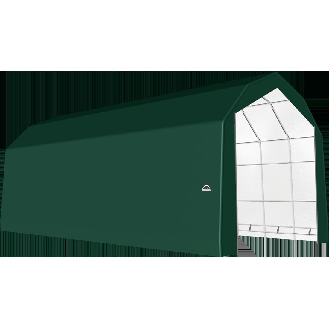 SP Barn 20X44X18 Green 14 oz PE Shelter