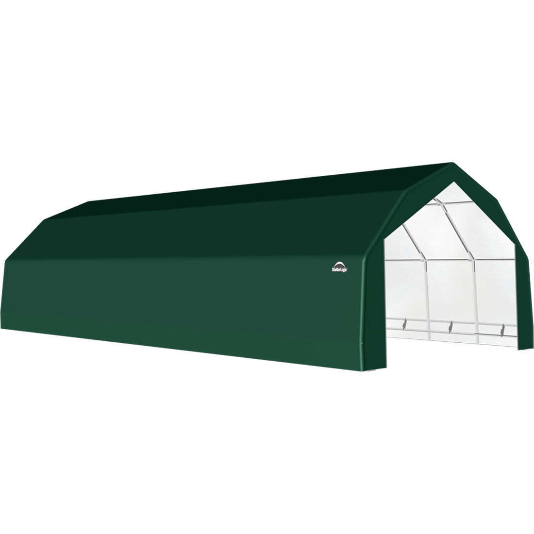 SP Barn 20X48X12 Green 14 oz PE Shelter