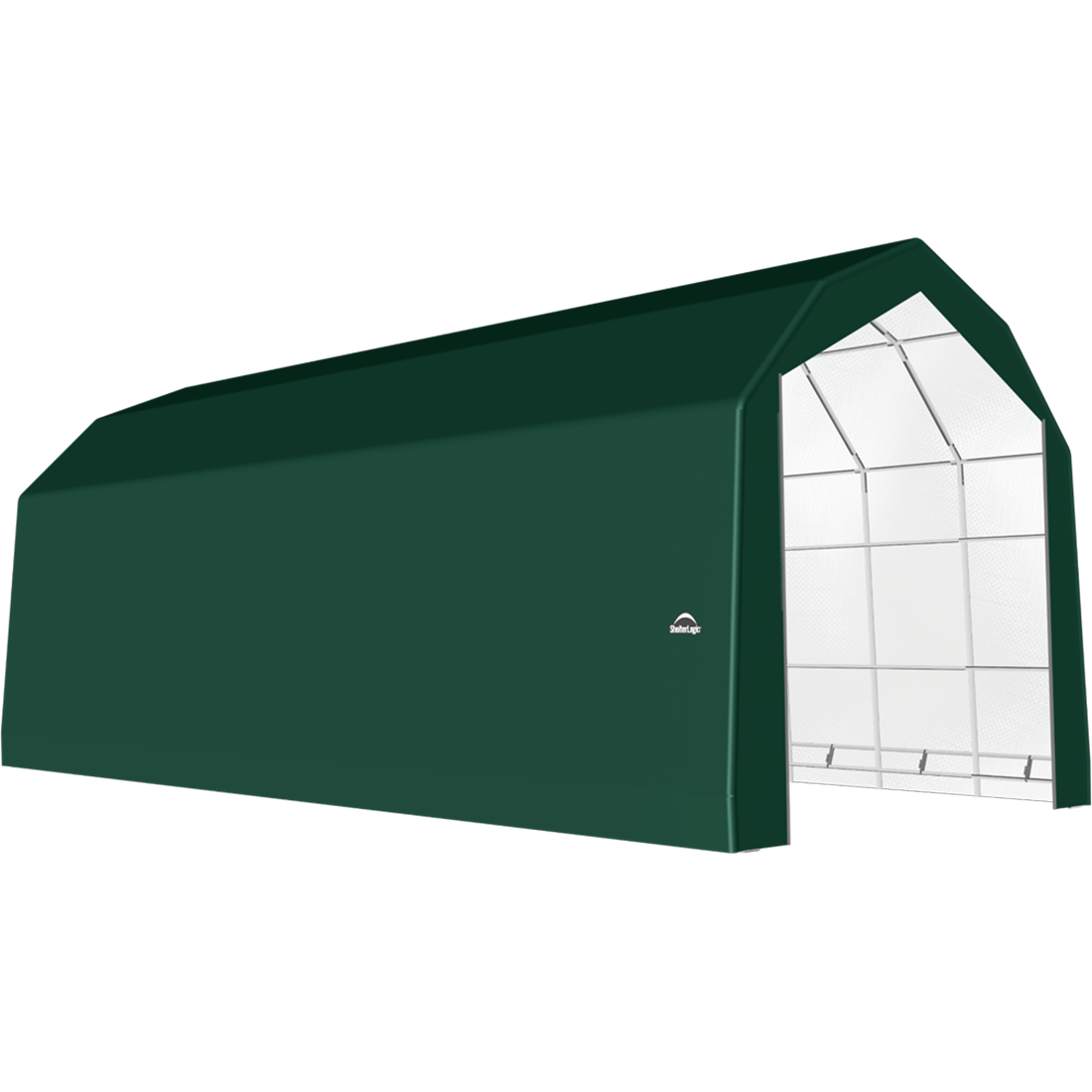 SP Barn 20X48X18 Green 14 oz PE Shelter