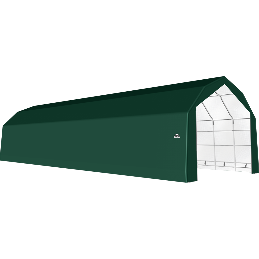 SP Barn 20X60X15 Green 14 oz PE Shelter