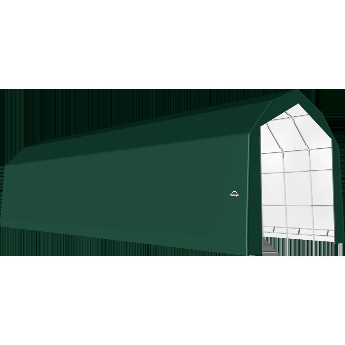 SP Barn 20X64X18 Green 14 oz PE Shelter