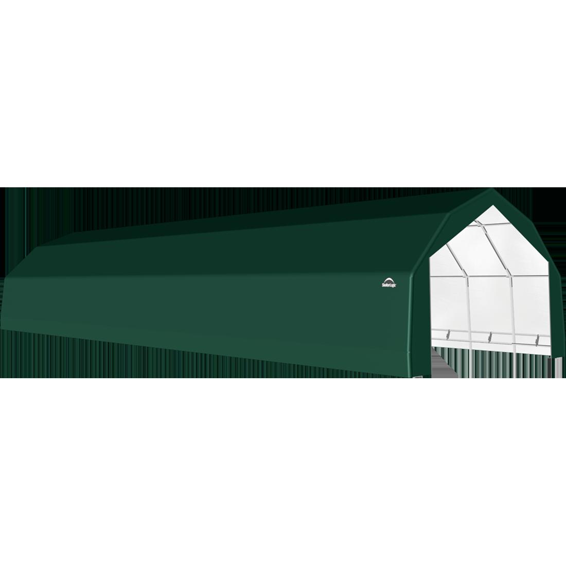SP Barn 20X68X12 Green 14 oz PE Shelter