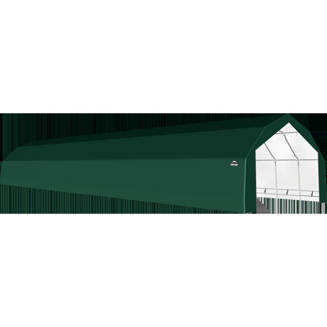 ShelterTech SP Series Barn Shelter, 20 ft. x 72 ft. x 12 ft. Heavy Duty PVC 14.5 oz. Green