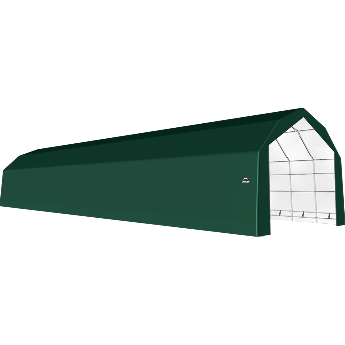 SP Barn 20X72X15 Green 14 oz PE Shelter