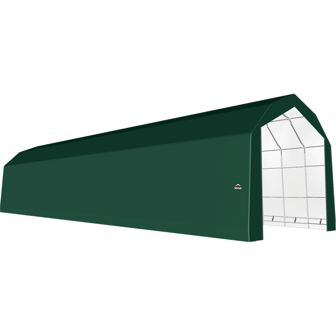 SP Barn 20X72X18 Green 14 oz PE Shelter