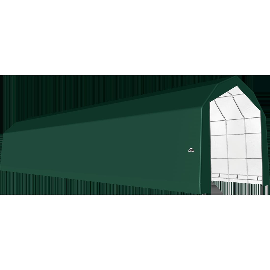 ShelterTech SP Series Barn Shelter, 20 ft. x 72 ft. x 18 ft. Heavy Duty PVC 14.5 oz. Green