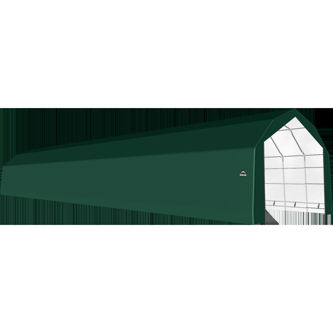 SP Barn 20X96X15 Green 14 oz PE Shelter