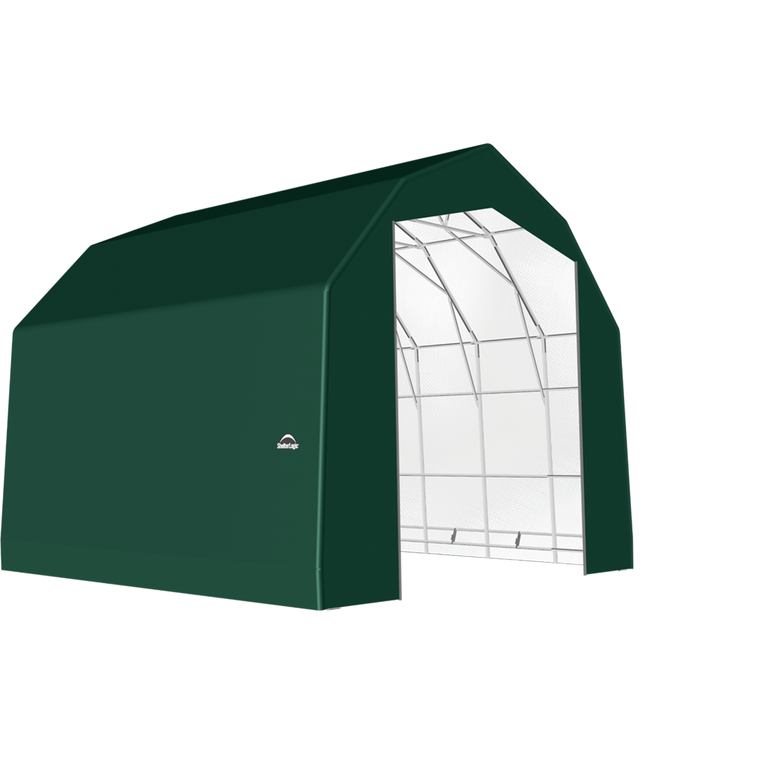 SP Barn 25X20X20 Green 14 oz PE Shelter