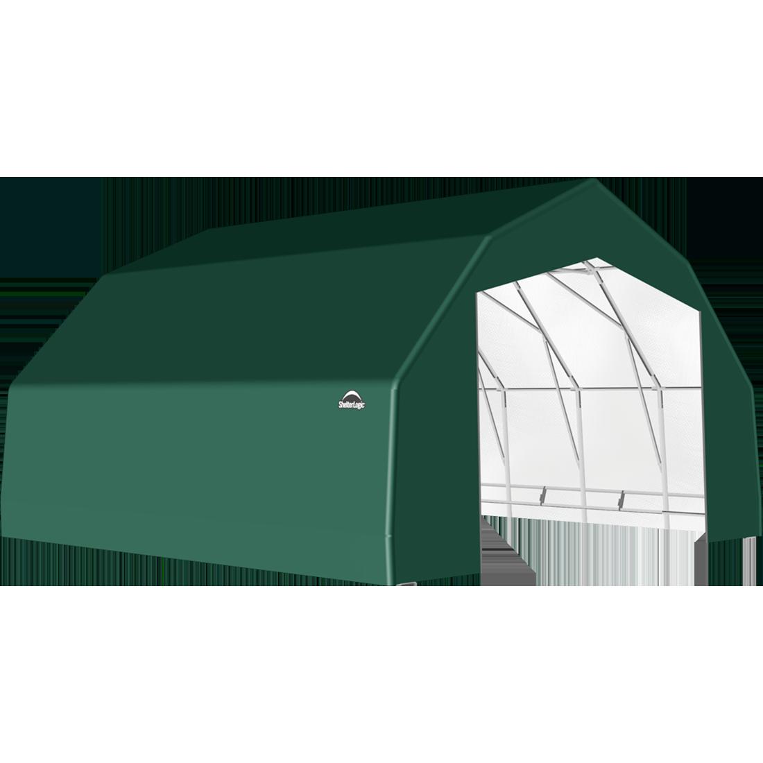 ShelterTech SP Series Barn Shelter, 25 ft. x 24 ft. x 14 ft. Heavy Duty PVC 14.5 oz. Green