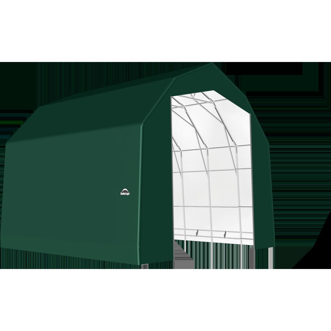 SP Barn 25X24X20 Green 14 oz PE Shelter