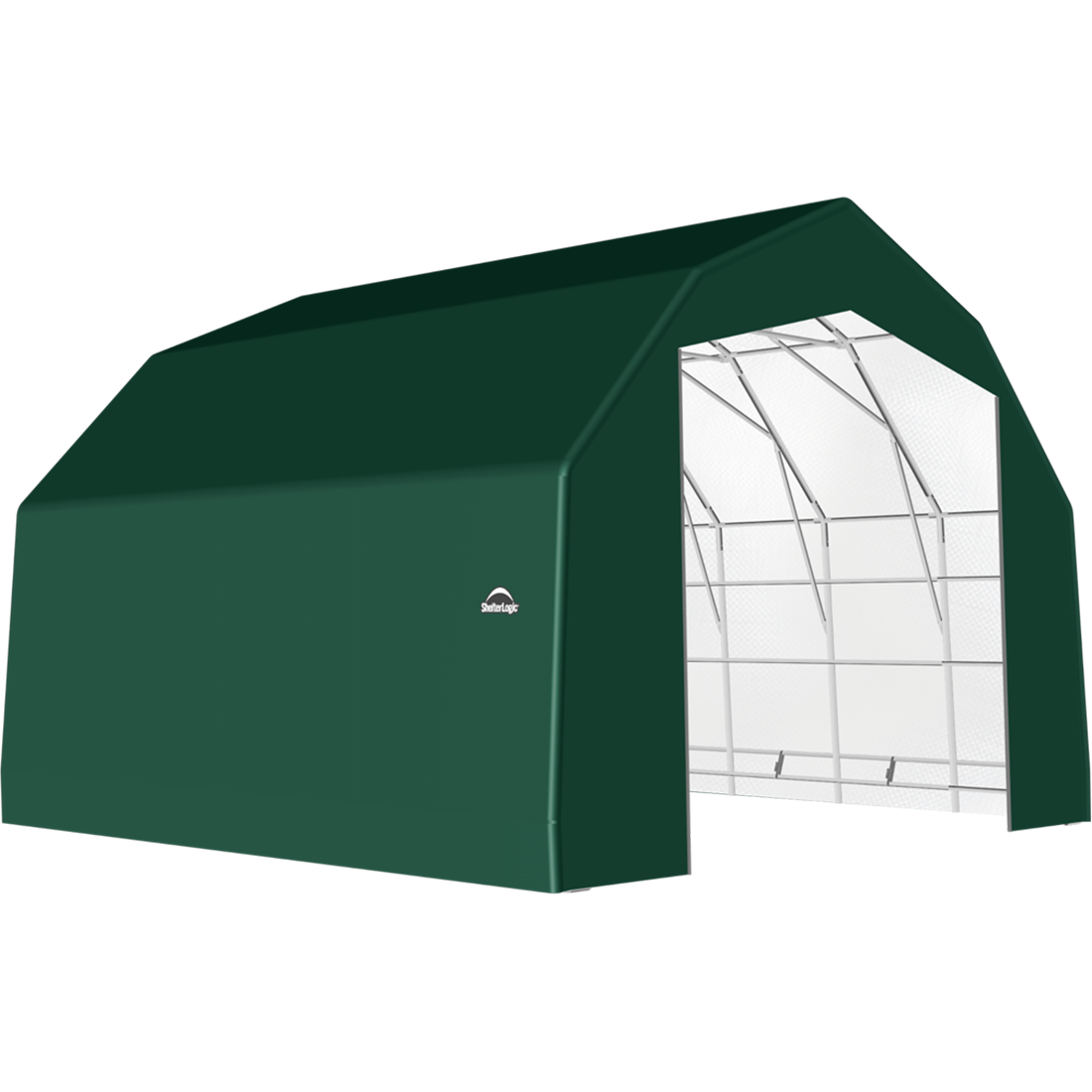 SP Barn 25X28X17 Green 14 oz PE Shelter