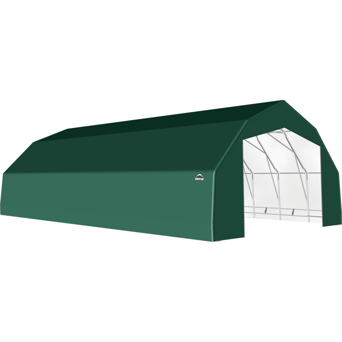 SP Barn 25X36X14 Green 14 oz PE Shelter